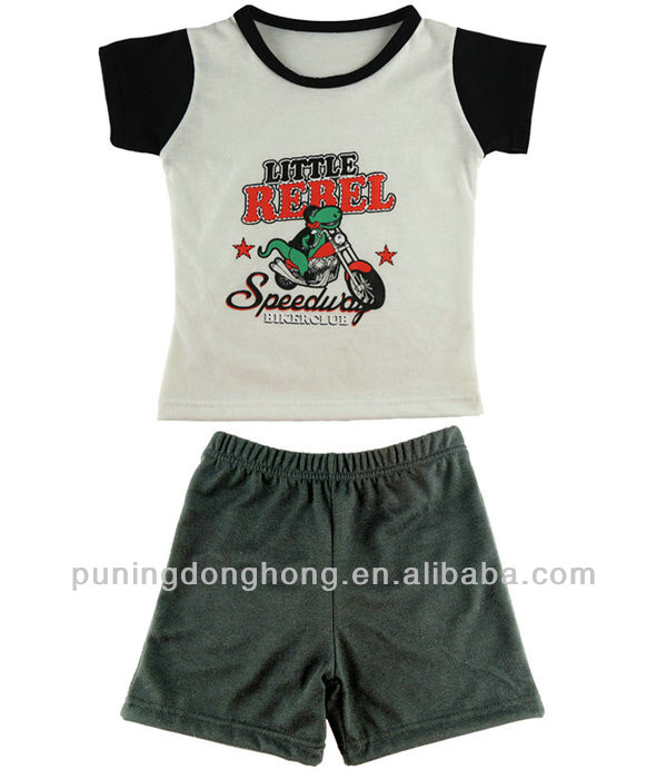 short sleeve Kid Clothes/Child Clothing/boys Clothing