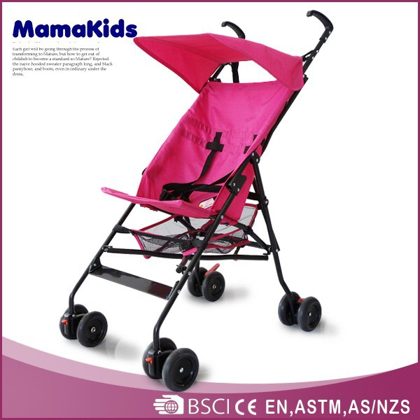Simple baby buggy with five points seat belt baby umbrella stroller