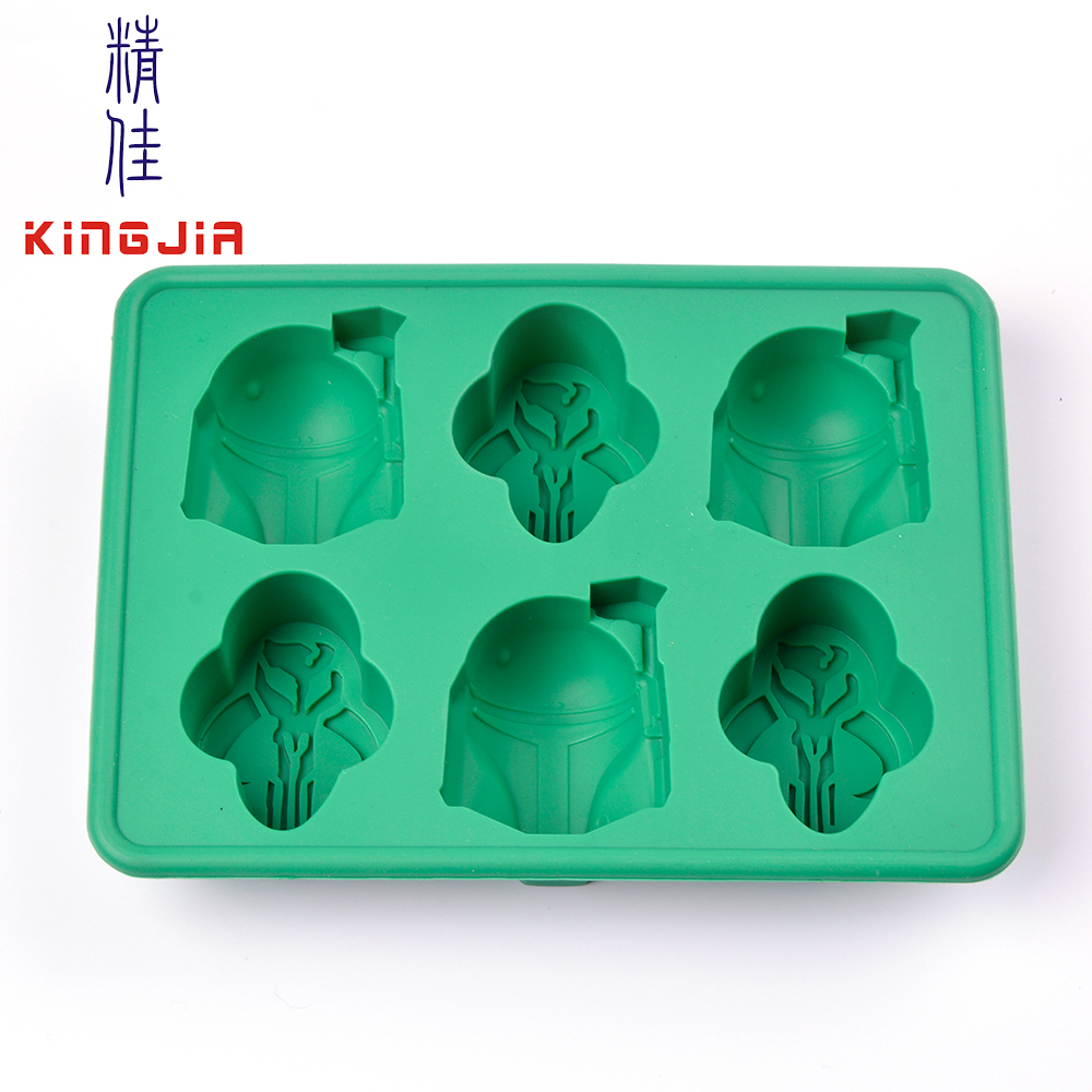 custom silicone lego star for wars shaped ice cube trays