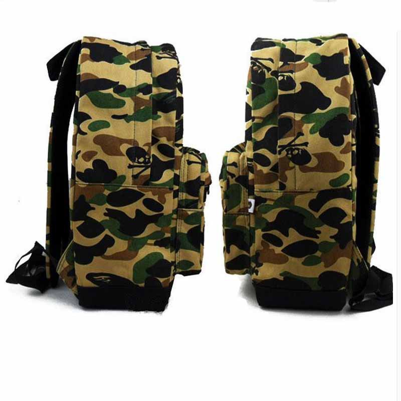29a3c15d983a Get Quotations · 2015 bape Shoulder Bags for men women Designer Brand  fashion street Camouflage bape shark school Bag