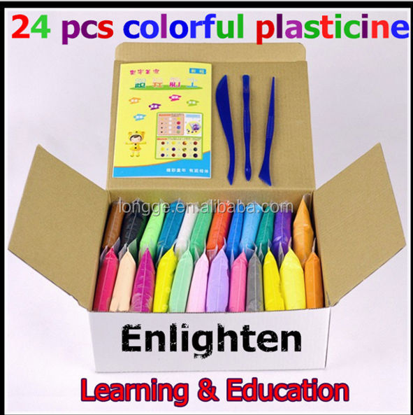 Plasticine 24 pcs Colorful Fimo Polymer Clay is Kids Learning & education Special Toys