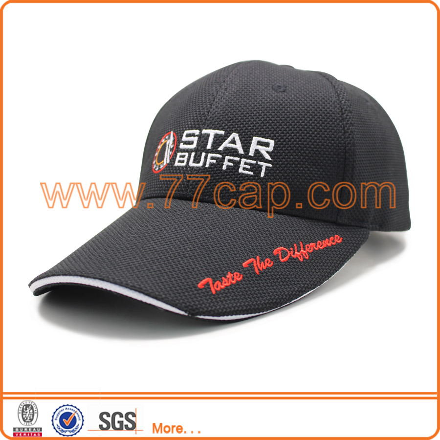 Promotion top quality embroidered 6 panel custom baseball cap supplier