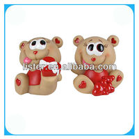 Brown valentine bear with heart figure crafts