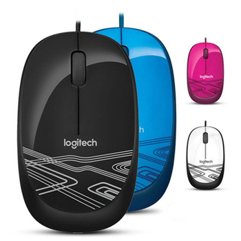 New Logitech M105 Optical Wired USB Mouse 1000DPI Laptop Desktop PC Notebook Mouse