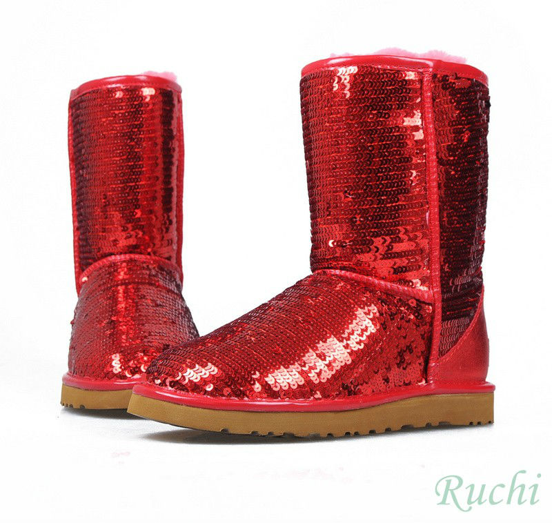 Fashion Woman Winter Snow Boots Sequin Boot Shining Boots
