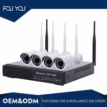 Home DIY WiFi Security Camera Systems NVR WiFi Kit 4 Channel 960P H.265