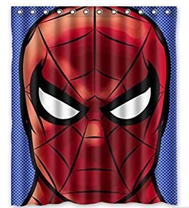 Get Quotations CAYU SHARING Custom Spiderman Head Pattern Waterproof Bathroom Shower Curtain 100 Polyester Fabric