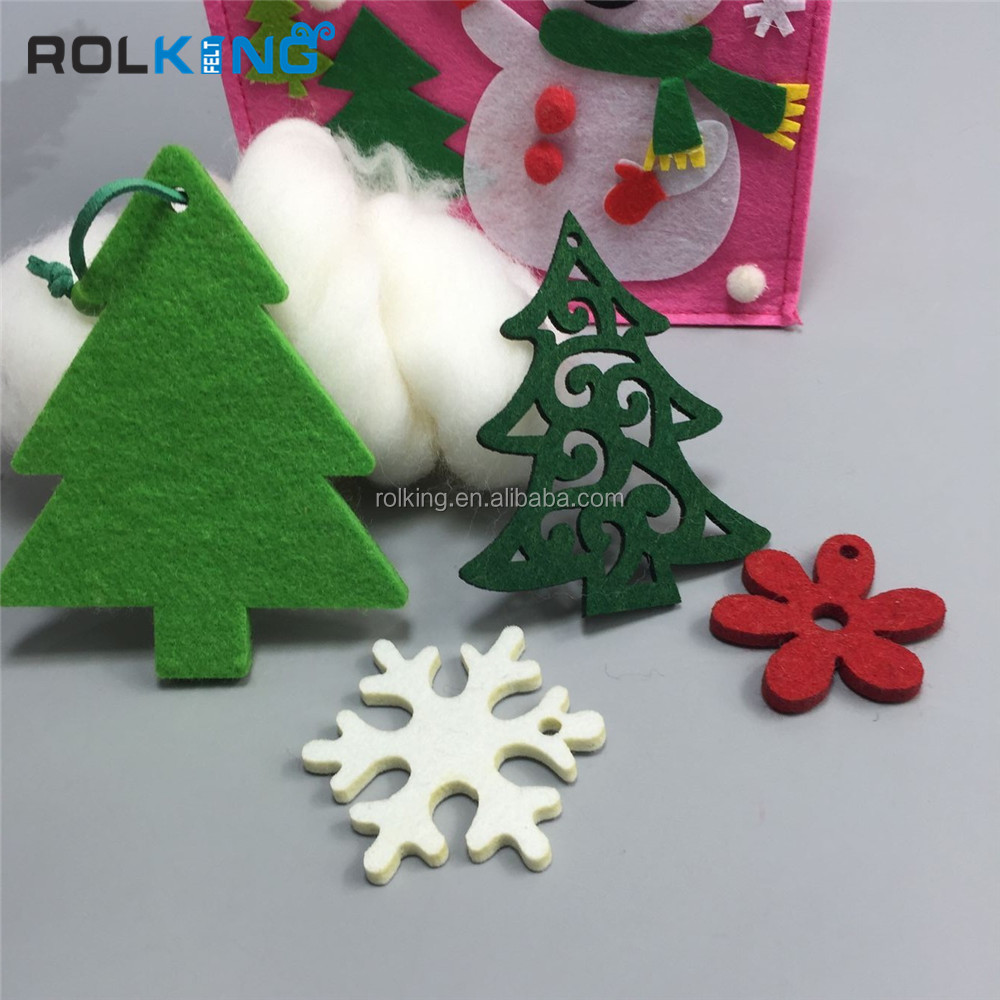 santa felt craft 2016 new design Xmas home decoration