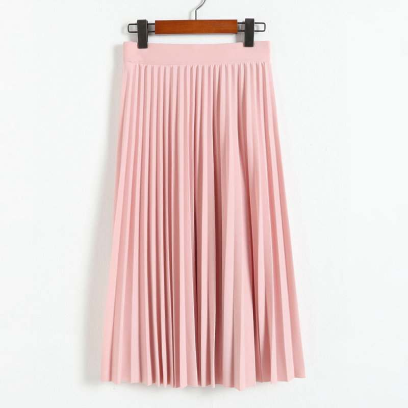 ladies fashion maxi skirt women pleated skirt black sexy chiffon skirt