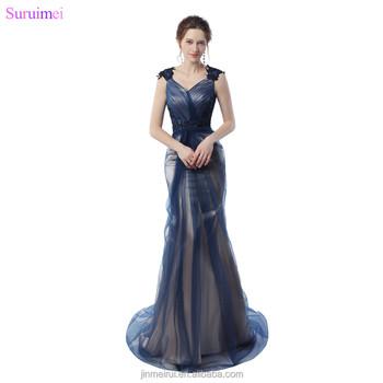 Unique Contrast Color Mermaid Prom Dresses With Applique Spaghetti ...