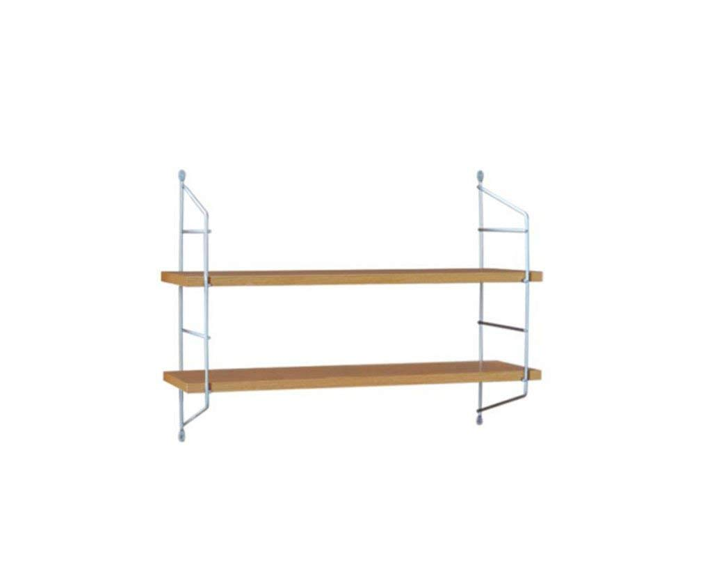 AJZGF Square shelf rack, wooden storage shelf, metal shelf CD shelf, wall hanging wooden shelf. Shelf (Size : 60cm)
