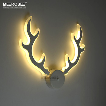 modern acrylic wall lamp led deer antler wall sconces md81777 l2