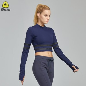2019 New Fashion Long Sleeves Shirts Gym Thumb Hole Tops Sport Wears Women