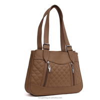 Dark brown soft pu leather Russian style lady shoulder bags 2015 2016 online shopping