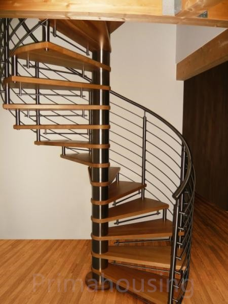 Attractive Outdoor Metal Spiral Stairs With Stainless Steel Handrails Stair Casings