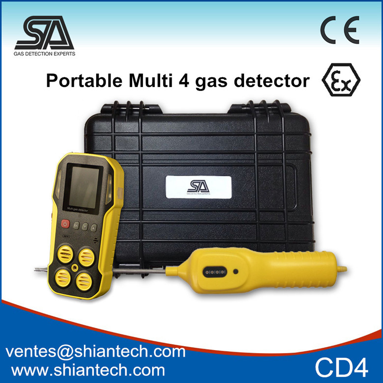 Sa-m203 Portable 4 In 1 Multi Gas Detector In Gas Analyzer