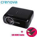 Crenova XPE460 Full Color 130 HD LED Projector 800 480 Resolution Home Cinema Theater Support AV