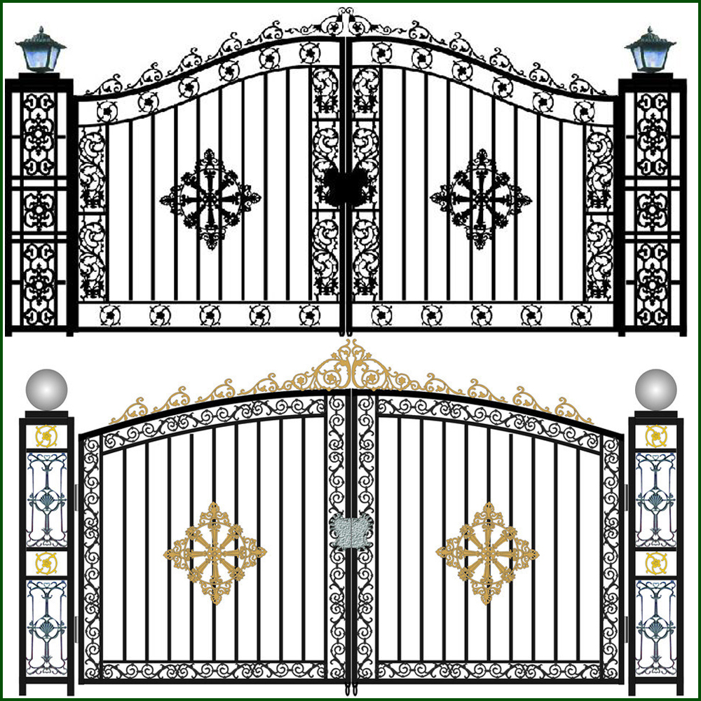 Wrought Iron Gate/Wrought Aluminum Gate/Yard gates fence gates