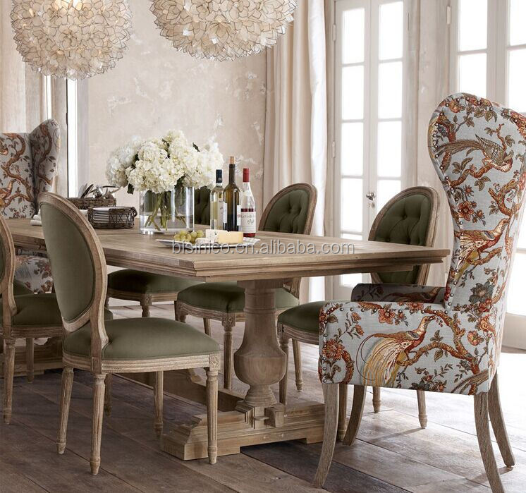 French Dining Room Set: French Country Style Wooden Dining Room Set,Vintage And