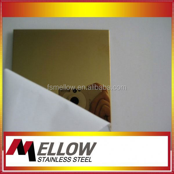 304 430 champagne gold color stainless steel sheets for water cooler and roce bowl producing