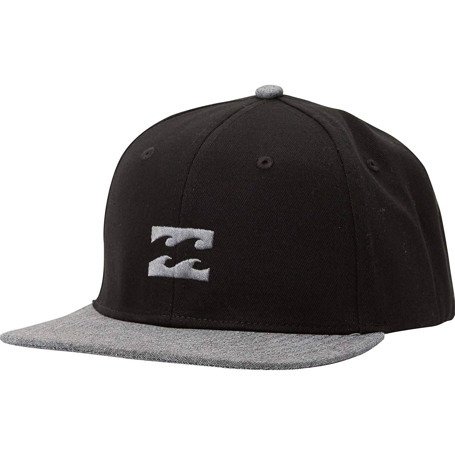 7bb9f0039c88e3 Get Quotations · Billabong Boys' All Day Snapback Hat Black/Grey One Size