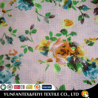 2015 latest design fashion soft Egyptian poly cotton T/C china flower vintage printed fabric