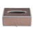 Custom home/hotel/office elegant champagne gold faux leather wooden tissue box