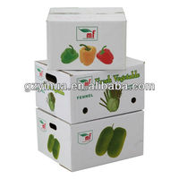 Customized vegetable fruit box packaging from Guangzhou factory