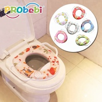 Folding baby potty training toilet seat for baby