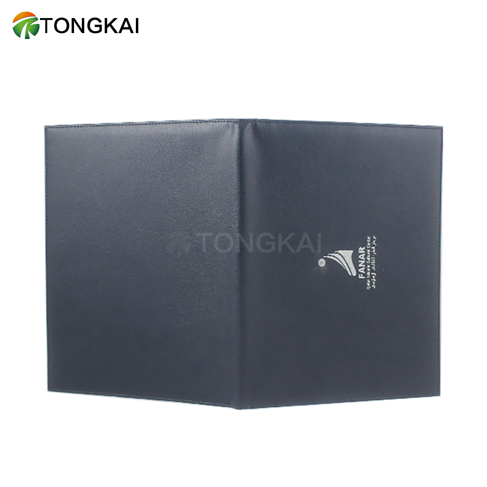 a4 certificate holder pu leather diploma cover real leather file folder gold corner