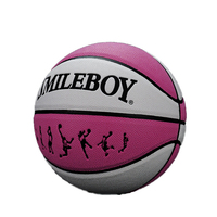 New arrival pink composite leather basketball for girl size 6