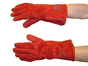 High Quality 14 Fully Lined Welders Gauntlet Gloves GL011 by Toolzone