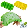 Easy-Release Ice Cube Trays Food Grade 37-cell ice honeycomb maker Trays BPA free Ice Trays with Lid