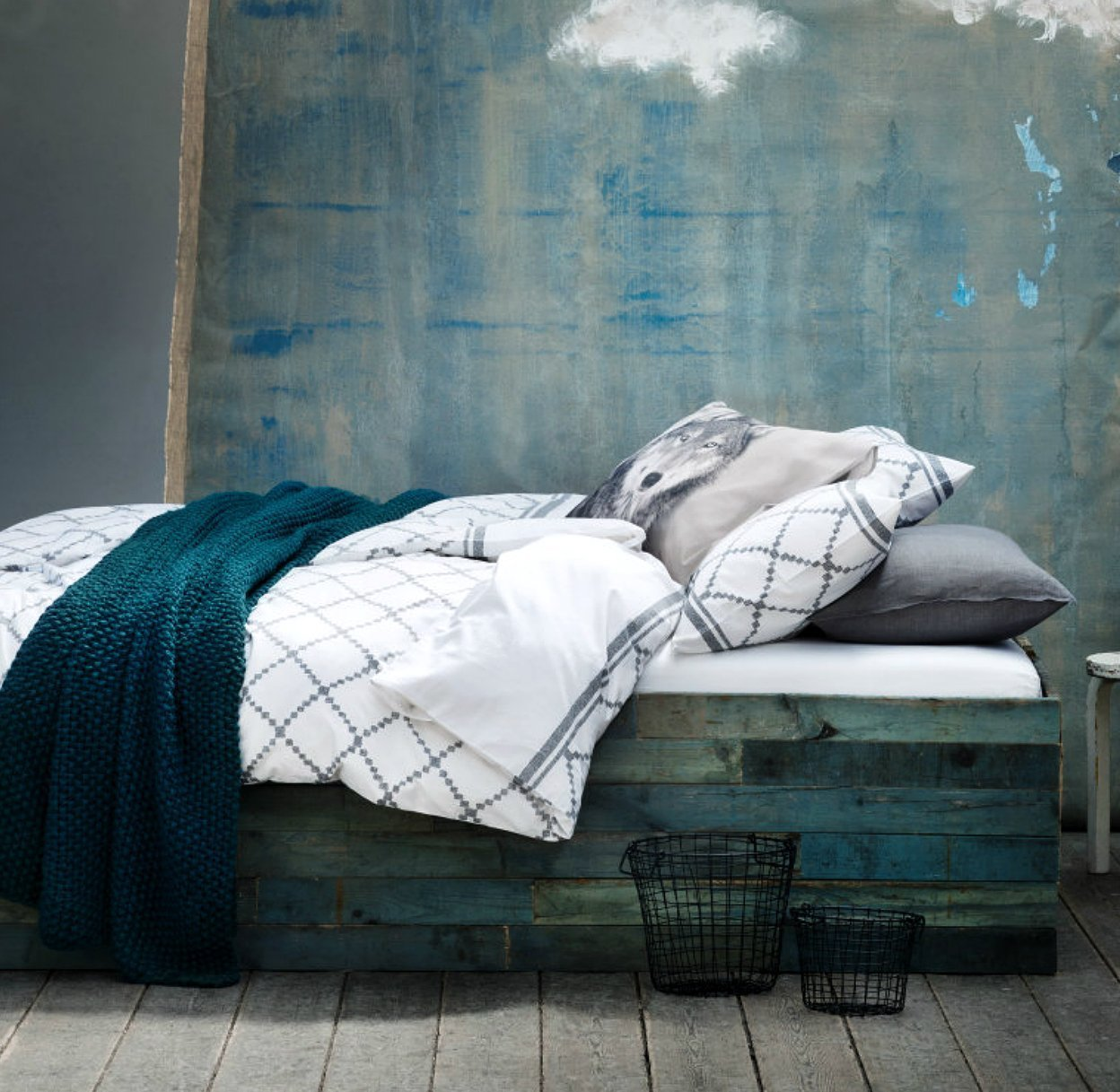 Mid century modern bedding charcoal grey geometric print duvet cover 100 cotton 2 piece set