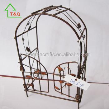 Forjado Rústico Alambre Arco Miniaturas Jardín Muebles Puerta - Buy ...