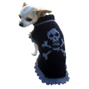 Unique Skull Style Hand Crochet Dog Sweater - Buy Hand Crochet Dog ...