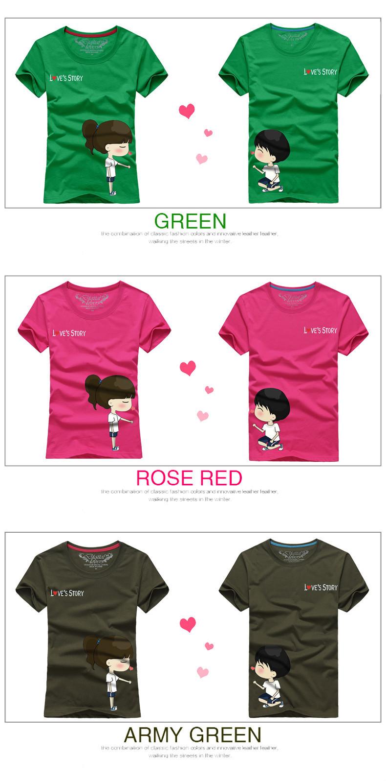 Lovely Couple Shirts Design Sun Wear T-shirt Chinese Clothing ...