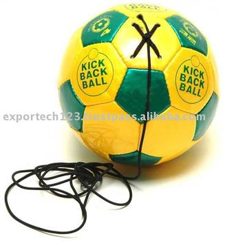 Double Tone Pu Soccer Ball With Elastic String