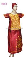 wedding dress damask jacquard fabric african bazin clothes