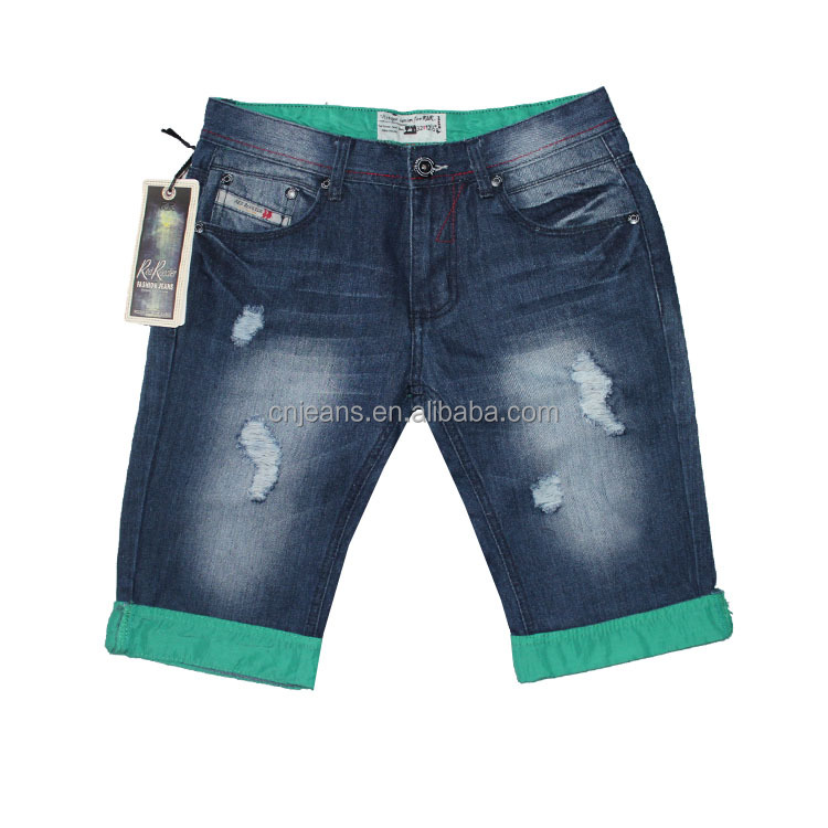 wholesale stylish men jean pants baggy jean shorts