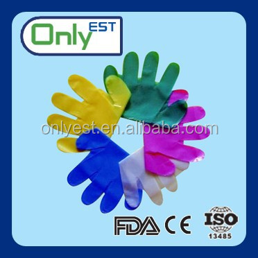 Embossed allergy free clear poly disposable food services hdpe gloves