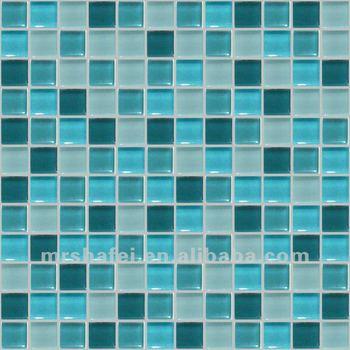 300 300 12mmblue y verde cristal mosaico azulejos para ba o azulejos de la pared decoraci n - Azulejos mosaico bano ...