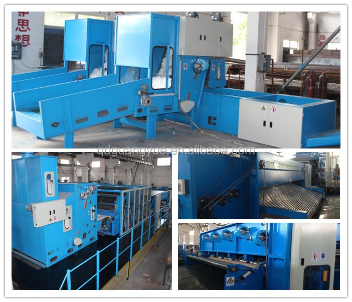 nonwoven needle punched polyester geotextile making machine