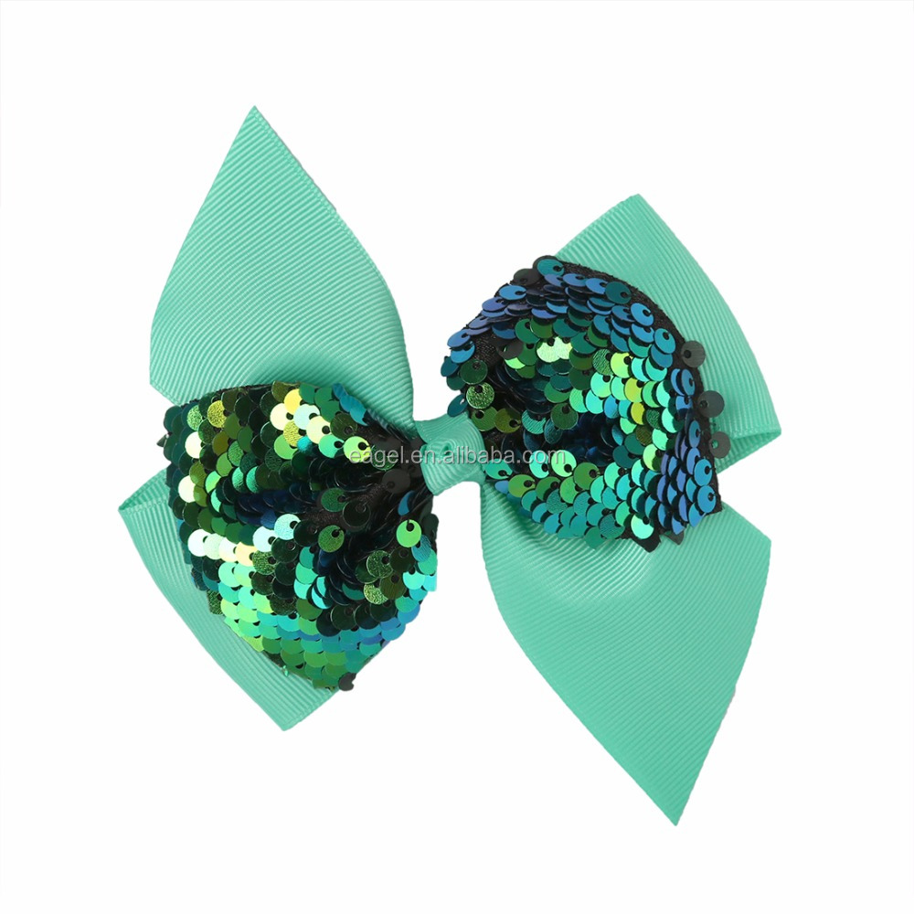 Wholesale Reversible Sequin Hair Bows Shining Sequin Hair Clip Hairpins Hair Accessories for Girls