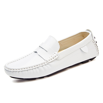 Spring New Shiny Leather Loafers Casual Shoes For Men - Buy Shiny ...