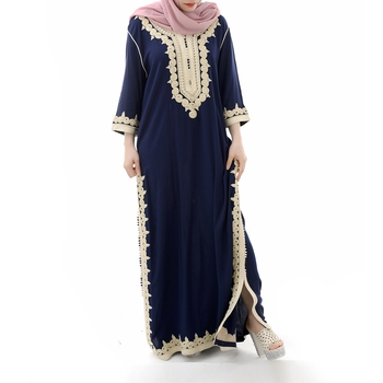 Muslim Dress Maxi Abaya Modern Turkey Woman Indian Dubai Price 2019 Hot Selling Embroidery Wholesale Islamic Clothing