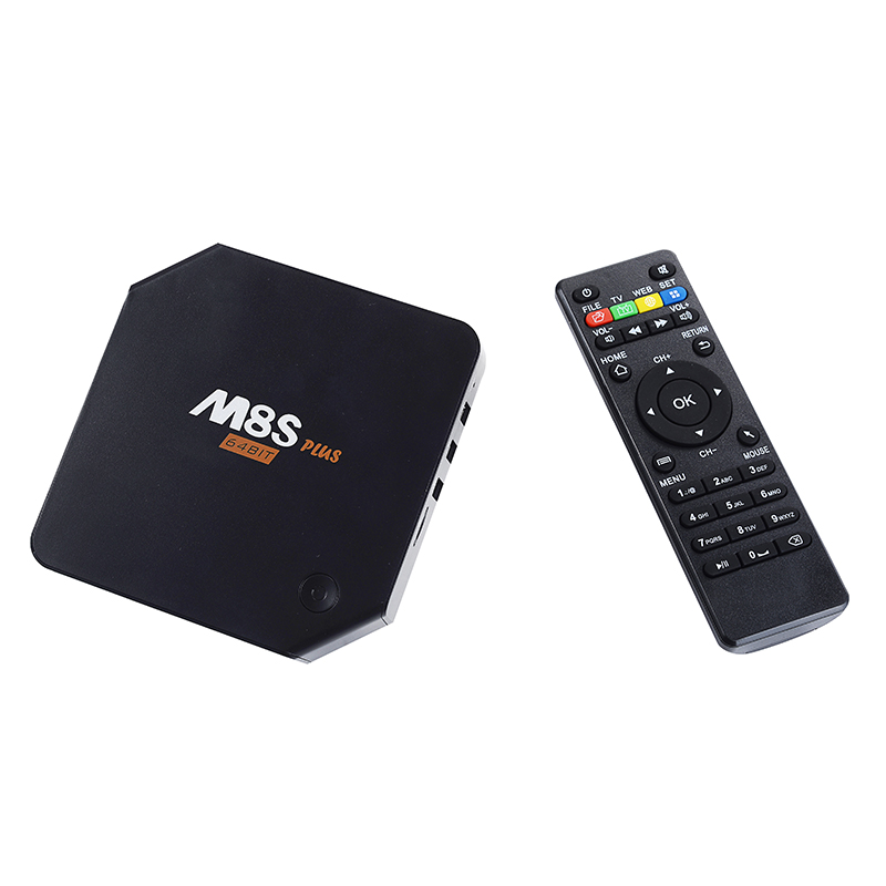 2016 Best Selling android 5.1 Smart Tv Box M8S Plus 10/100/1000M Ethernet add 1000M M8s plus android tv box