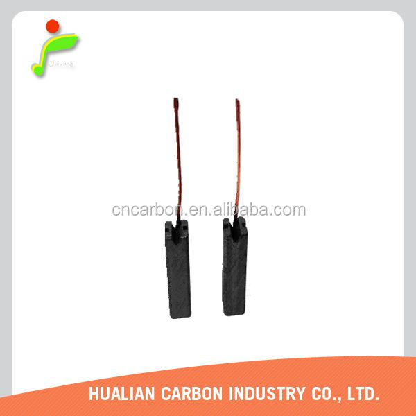 Customized Carbon Brush 5.8x6x18 with Small Sparking for 24V Generator/1 Pair of Electric Copper Carbon Brush for Angle Grinder