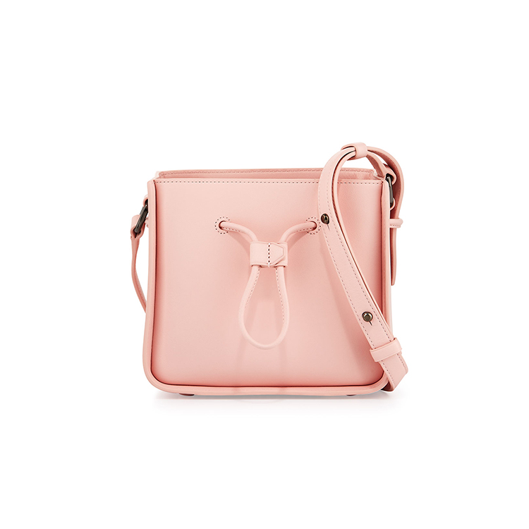 1HD0246 Hot Selling Wholesale Beautiful Women's PU Leather Small Drawstring Pink Handbags Shoulder Bag For Fashional Girl