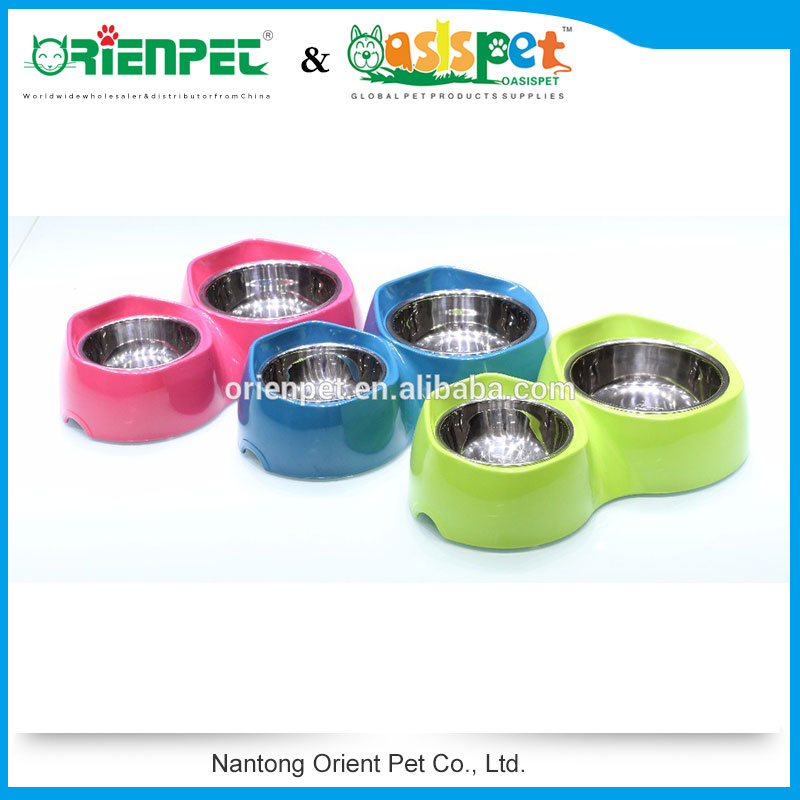 ORIENPET & OASISPET Melamine pet double bowl Dog bowl Ready stocks NT9271 S/L